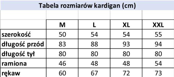 Kardigan 1555 - PACZKA